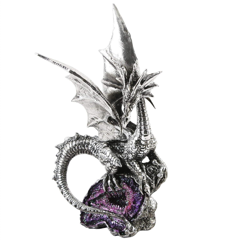 Mystic Legends Standing Dragon on Purple Crystals 59523