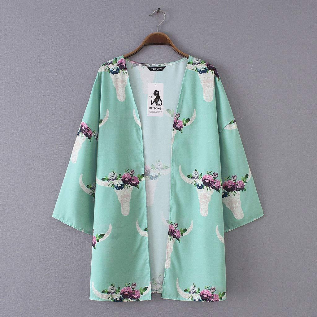 4a5452b00e Jumpsuits, Rompers & Overalls Womens Chiffon Cardigan,Suma-ma Flower Printed  Beach Shawl Smocks Summer Sunscreen Cardigan Covers Up