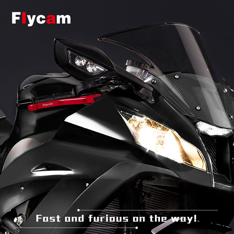 FLYCAM Kit Levier dembrayage et De Frein Reglable Aluminium CNC Court Levier pour Yamaha MT-07 XJ6 Diversion MT-09//SR//FZ9 FZ8 FZ6R Fazer 600 XSR 700 ABS XSR 900 ABS XV 950 Racer FZ1 FZ6 Fazer PWL077