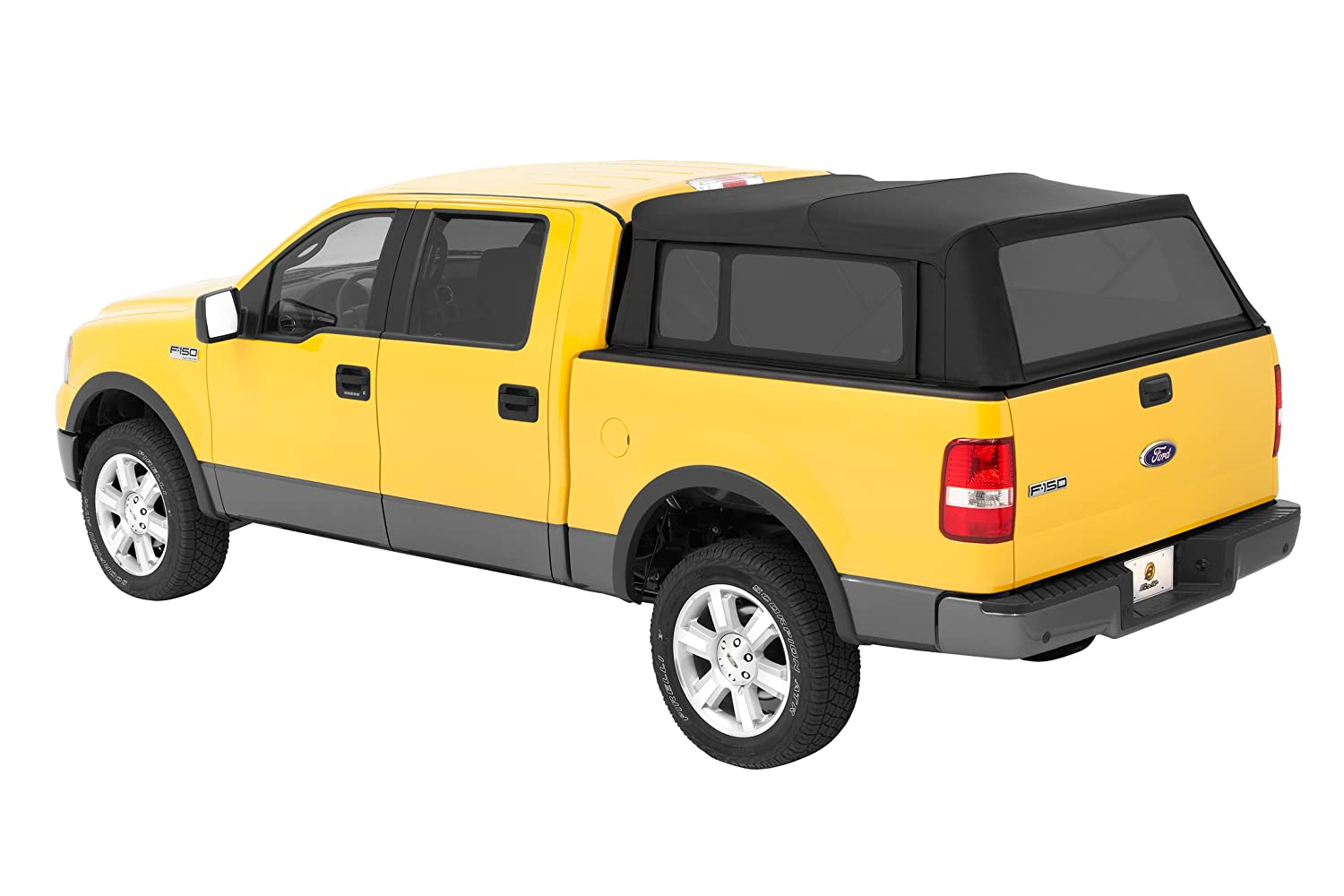 Amazon com bestop 76305 35 black diamond supertop for truck bed cover for 2004 2017 ford f 150 2004 2017 nissan titan king cab w o utility track