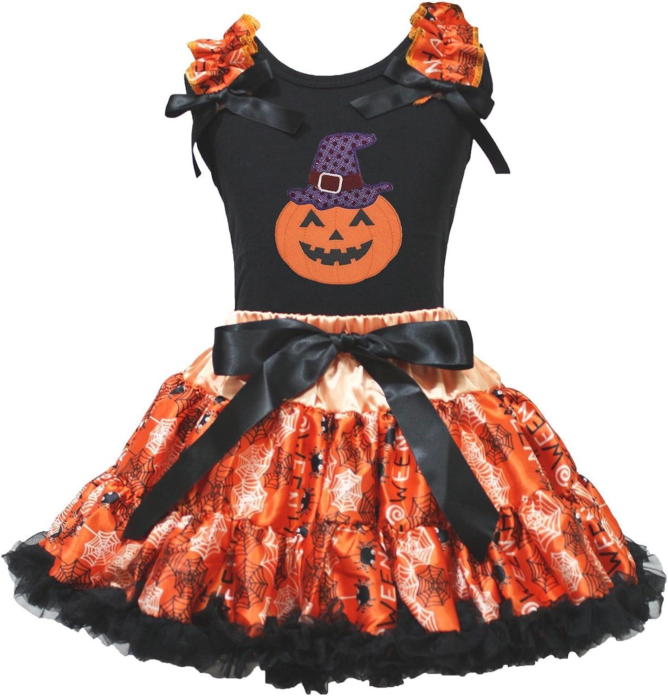 Petitebelle Vestido de Halloween Bruja Calabaza Negro Camiseta ...