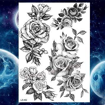 GHHCG Pecho del Brazo Flor de Henna Etiqueta engomada del Tatuaje ...