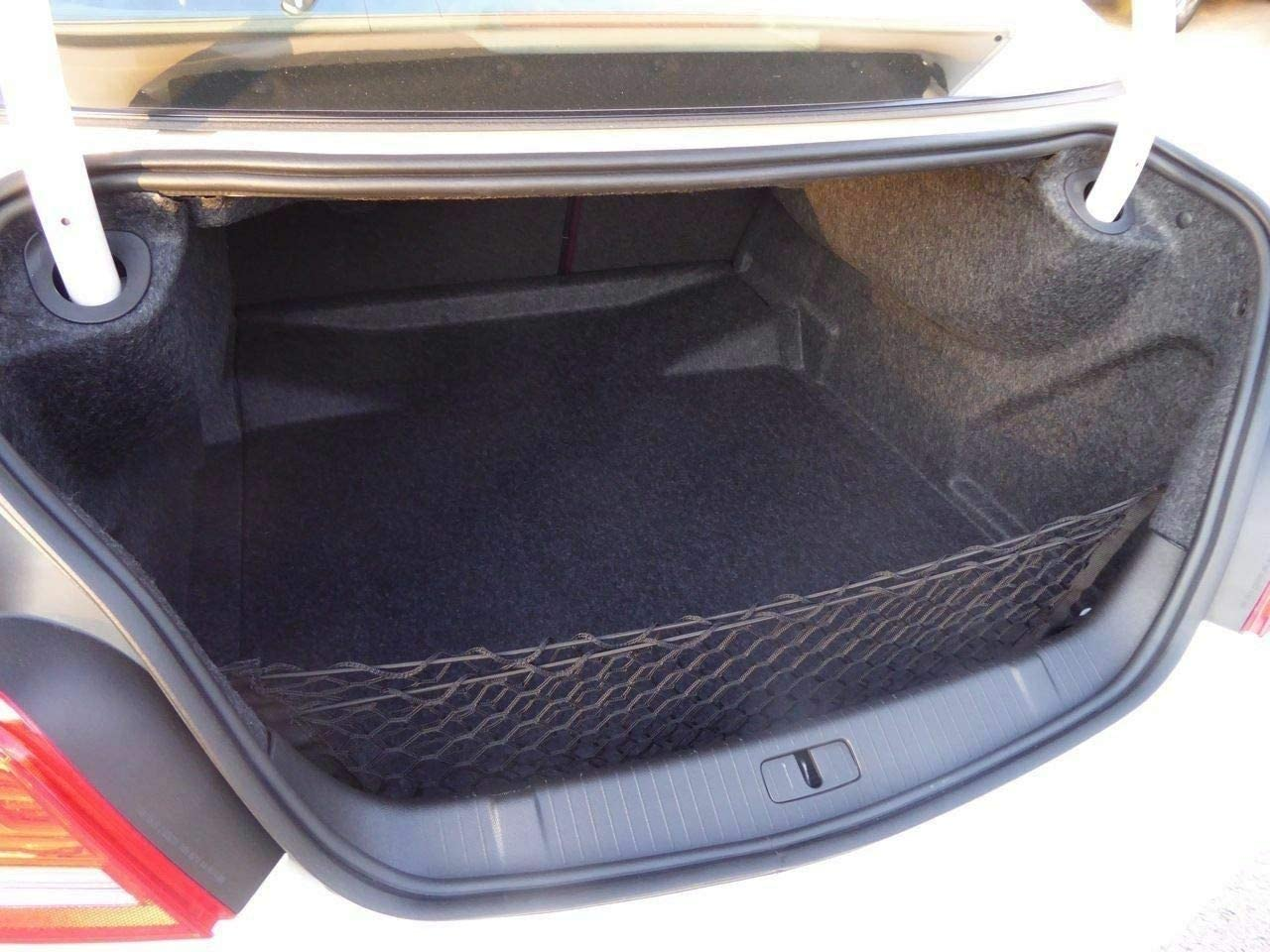 Rear Trunk Space Area Black Vertical Envelope Style Storage Organizer Web Mesh Luggage Bungee Compartment Cargo Net Red De Carga Del Maletero Trasero for GMC TERRAIN /& CHEVY EQUINOX 2018 2019 2020 NEW