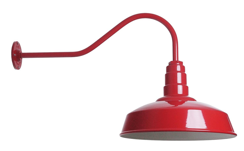 Amazon.com: The ABBA Standard 200 Watt Barn Light Kit | Barn Lighting Steel Vintage Shade and Gooseneck | 16 Inch Reflector and 23 Inch Gooseneck (Dark ...