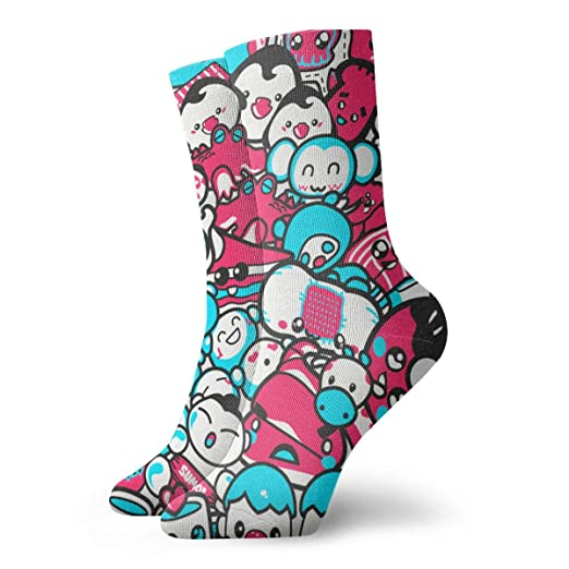 Kawaii Candy Wallpaper Ankle Socks Casual Funny For Sports