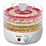 Excelvan Food Dehydrator Fruit Dryer Machine Electric 5 Tier Food Preserver with Adjustable Temperature Control 240W/White