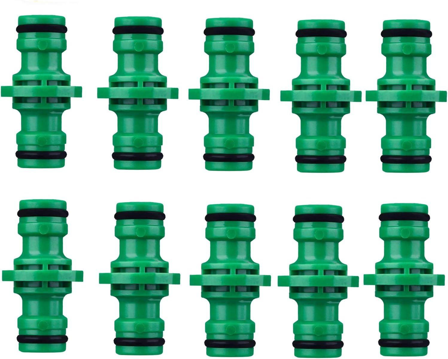 COSORO 10 Piezas Extensor Conectores de Manguera Doble Macho 1//2 Pulgada para Jard/ín Manguera Tuber/ía Tubo Verde