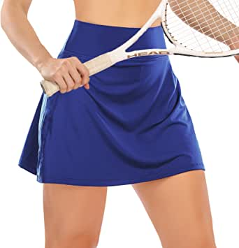 Womens High Waisted Tennis Skirt Skorts with Pockets Shorts Athletic Golf Running Skirt Workout Sports Activewear