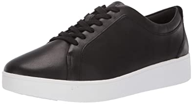 fbe97eeb47cbc Fitflop Women's Rally Tennis Sneaker-Leather Trainers, Black (Black 001), 4