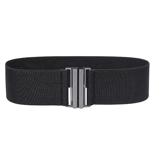 d30cf3589ce Syuer Womens Wide Elastic Waist Belt Cinch Belt Trimmer Stretch Waistband  (S-M (26 quot