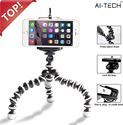 "Aitech Tripode Portatil 360° Tornillo de 1/4"" Tripode Movil ..."