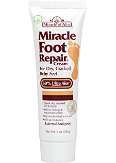 Miracle of Aloe Foot Repair Cream Exclusiva Formula En Base a Aloe Vera Que Hidrata Inmediatamente
