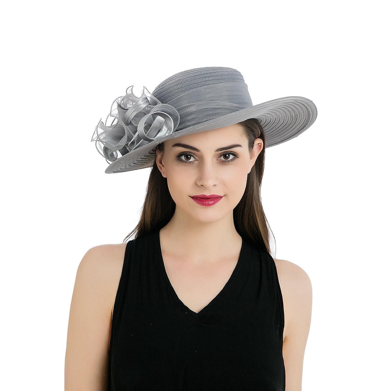 Organza Wide Brim Kentucky Derby Hat