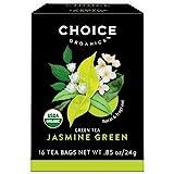 Choice Organics – Organic Jasmine Green Tea (6 Pack) – Organic Green Tea – 96 Tea Bags