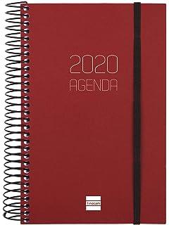 Finocam - Agenda 2020 1 día página Espiral Year Negro ...