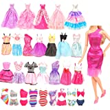 BARWA 16 Pack Doll Clothes and Accessories 10 PCS Fashion Dresses 3 PCS Wedding Gown Dresses 3 Sets Bikini Swimsuits for 11.5