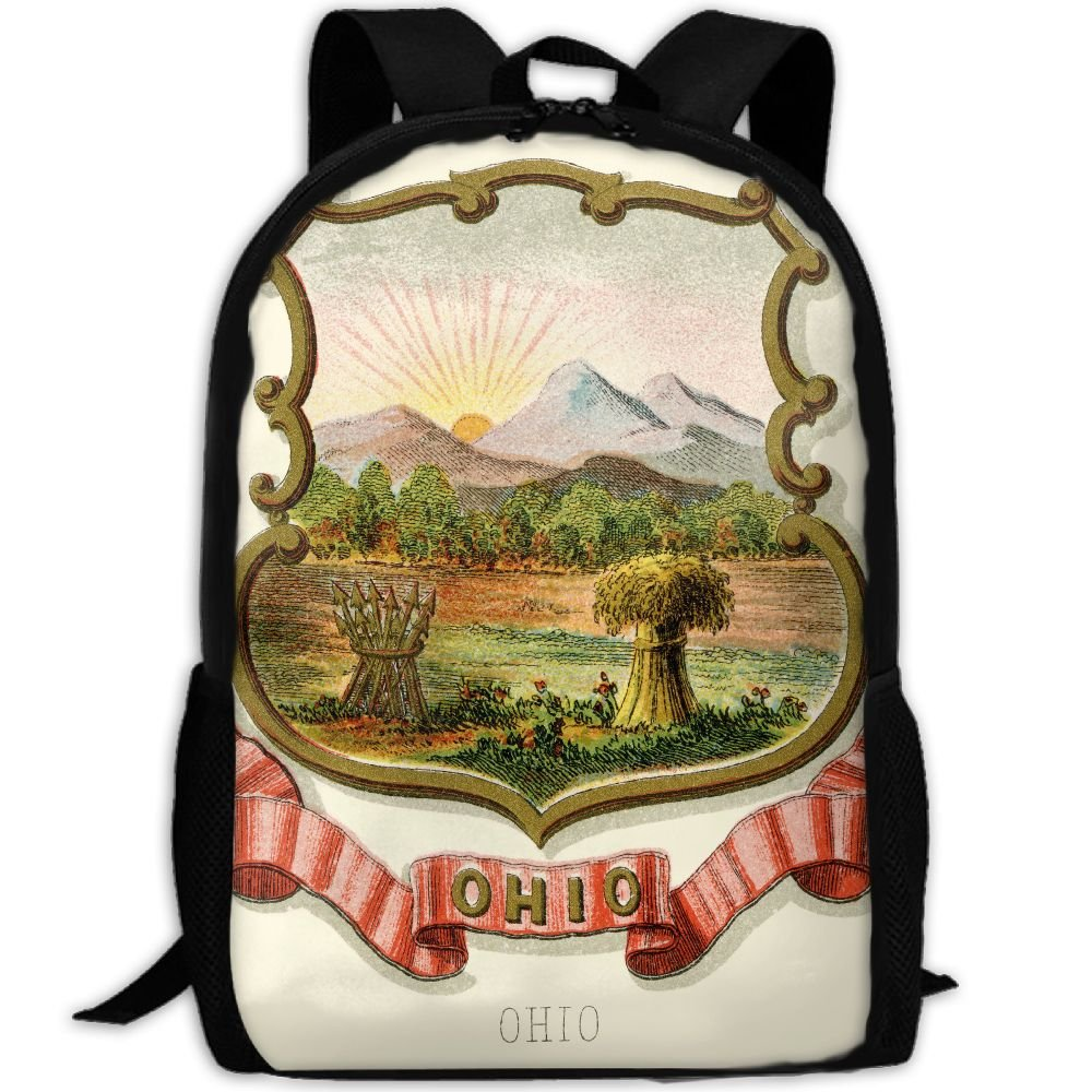 ZQBAAD Ohio State Coat Of Arms Luxury Print Men And Women's Travel Knapsack