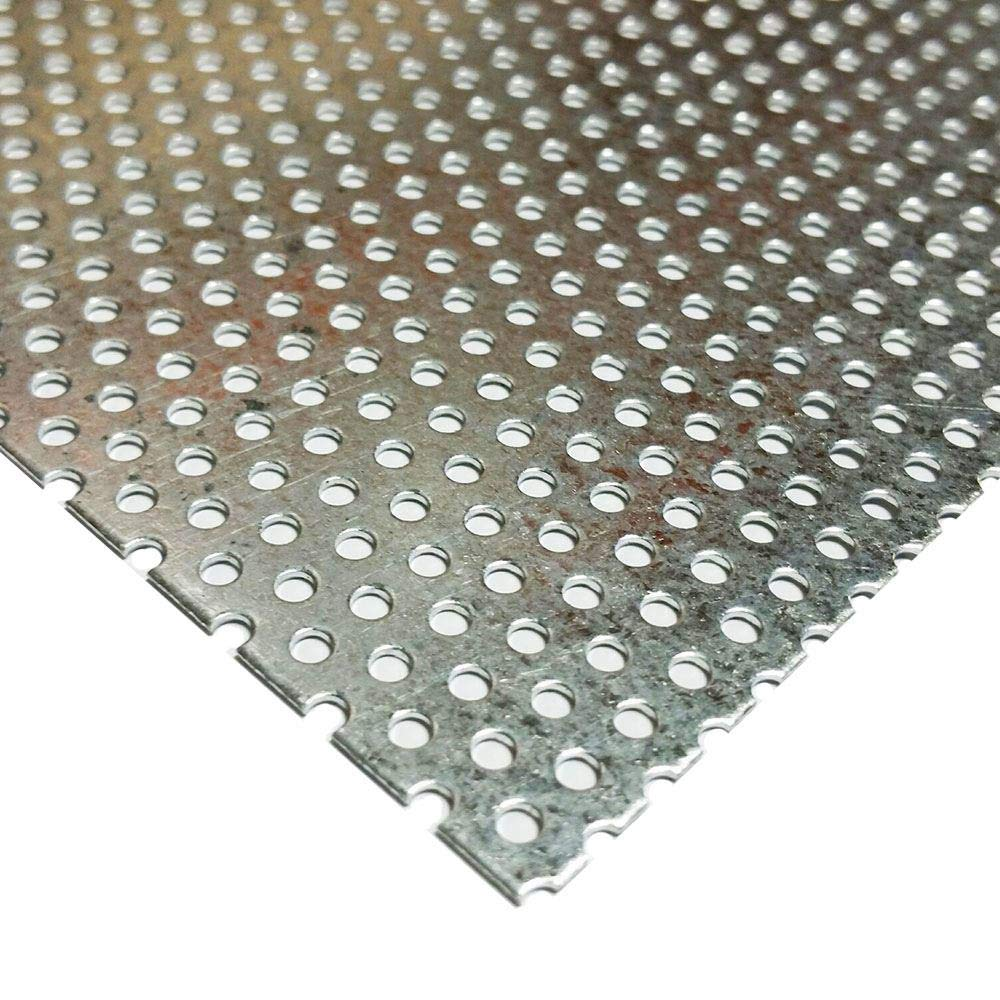 Online Metal Supply Galvanized Steel Perforated Sheet 0.034'' x 24'' x 48'', 3/32'' Holes by Online Metal Supply