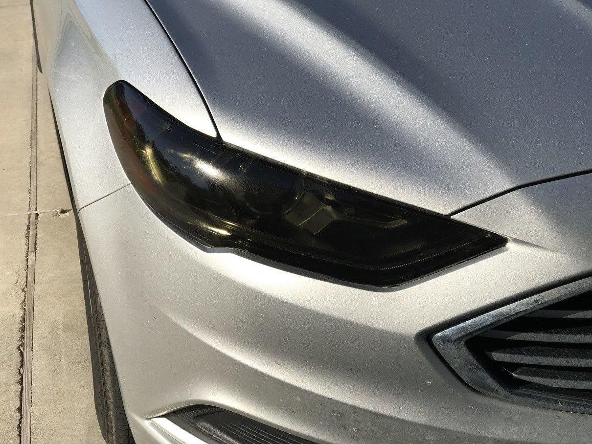 Precut Vinyl Tint Cover for 2017-2018 Ford Fusion Headlights 20/% Dark Smoke