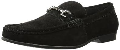 Stacy Adams Men's Ellston Slip-On Loafer, Black Suede, ...