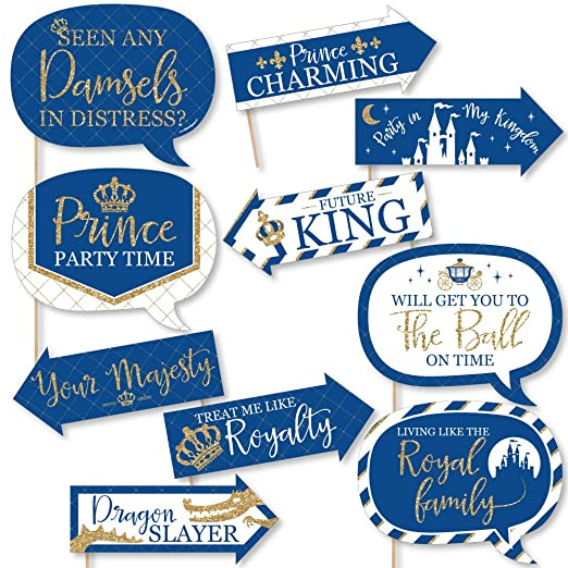 amazon funny royal prince charming baby shower or birthday Clear Background Frame amazon funny royal prince charming baby shower or birthday party photo booth props kit 10 piece camera photo