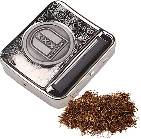 FIRUKI Maquina Liar Tabaco, Máquina De Inyección De Cigarrillos Manual De 70 mm, Máquina De Laminación De Cigarrillos De Metal Portátil DIY Caja De Cigarrillos (Plata) White: Amazon.es: Hogar