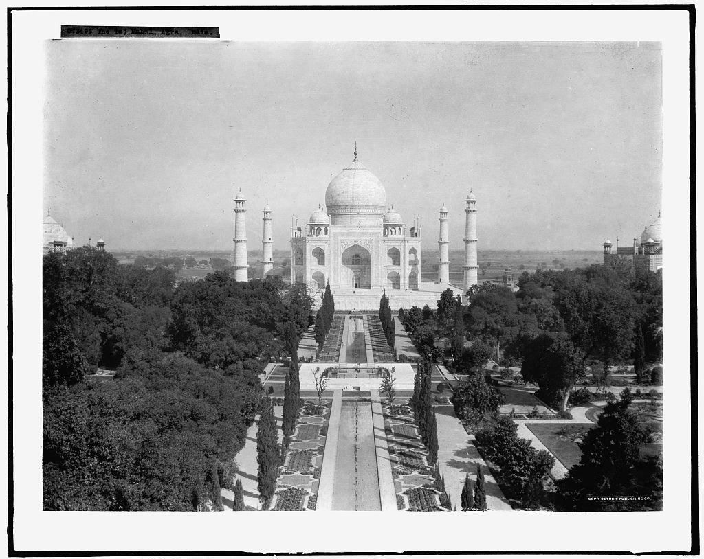 Vintography 24 x 30 Giclee Unframed Photo The Taj Mahal Agra India 1915 Detriot Publishing co. 43a