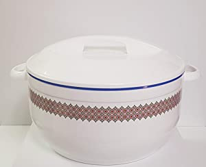 Tmvel Celebrity Casserole Hot Pot-16000ml-16 Insulated Serving Bowl With Lid-Food Warmer (White), 16 Litre