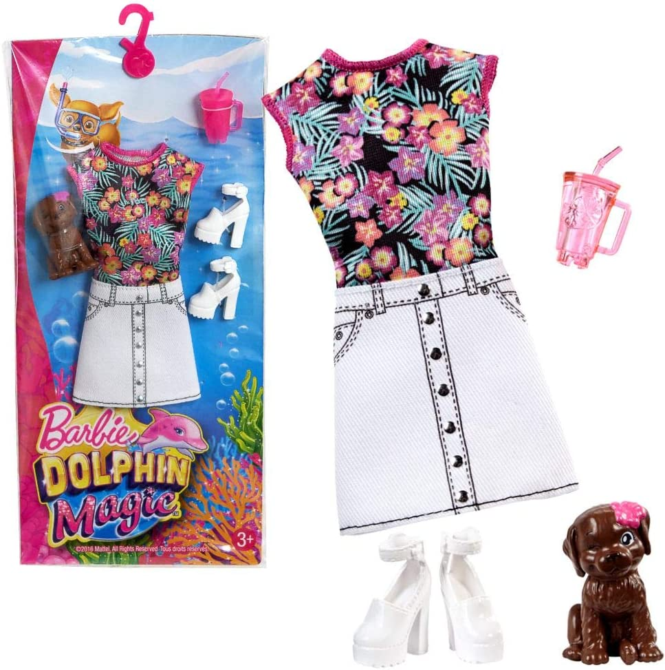Amazon.es: Barbie Vestido de Playa | Moda Magia Delfines Mattel ...