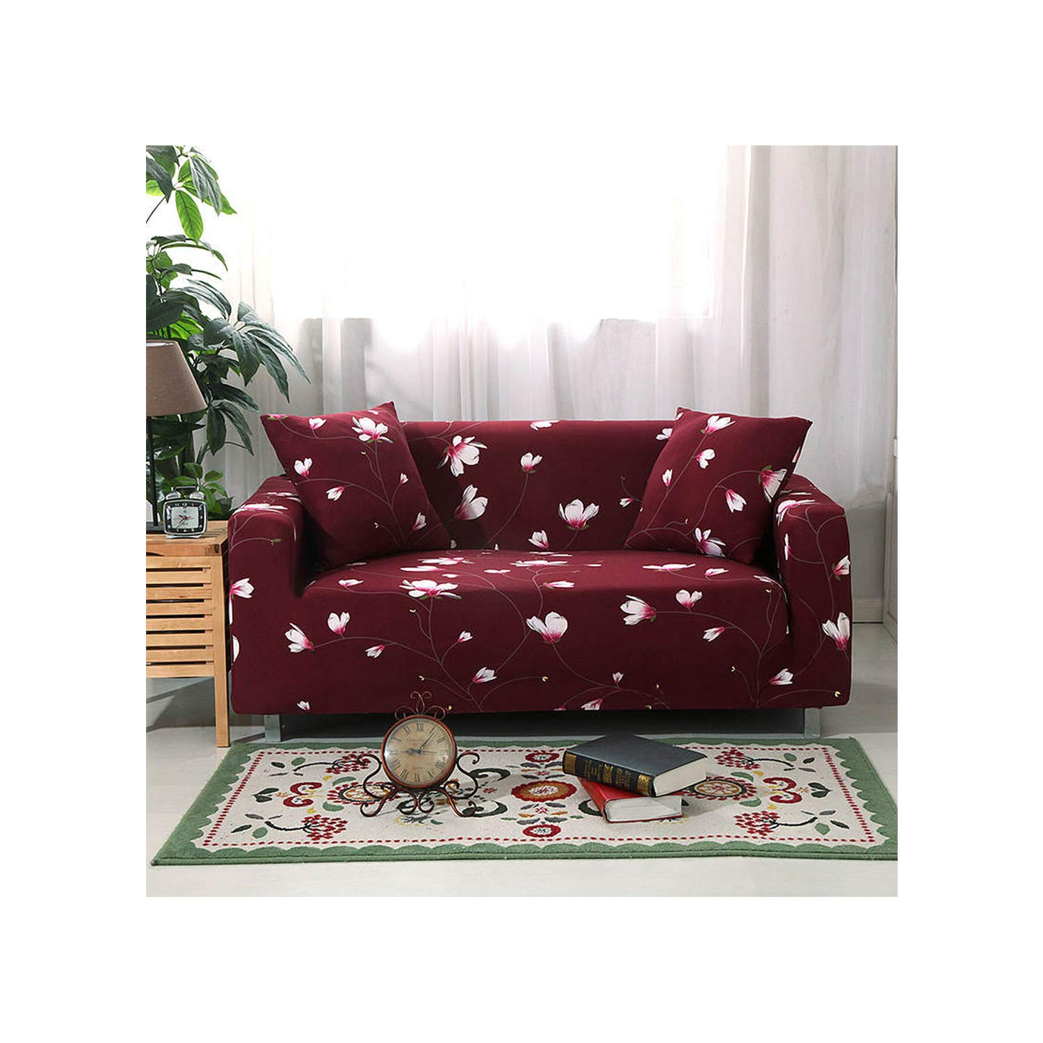 Amazon.com: MATERIALAL Red Color Sofa Covers for Living Room ...