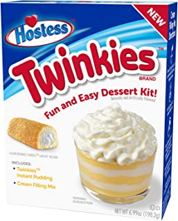 product image for Hostess Twinkies Dessert Kit, Pudding Mix, Instant Pudding, Pudding Kit, Baking kit, Dessert Mix, Tasty Personal Dessert for the Holidays, Birthdays or Special Occasions 6.99 OZ, 6 CT (Pack - 3)