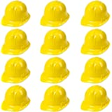 Yellow Construction Hats Toy for Kids Dress up Theme Party Fun Pack | 12 - Pack