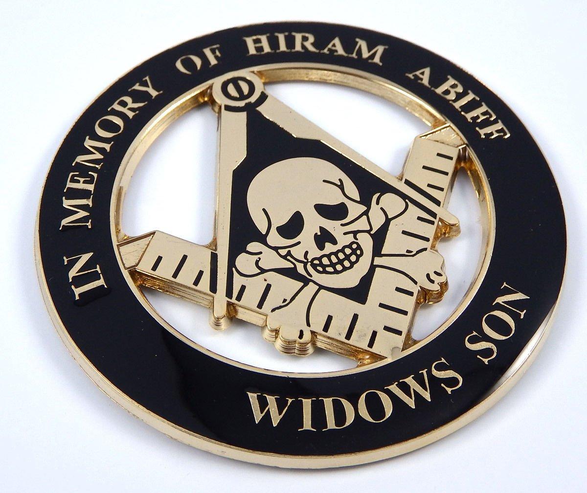 Aplique Masónica en memoria de Hiram Abiff Widows Son 3 3D M