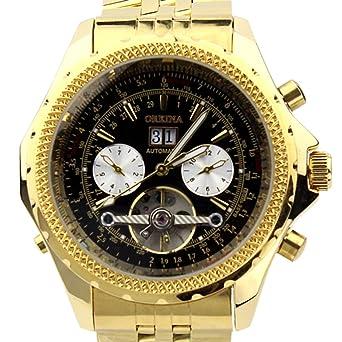 ORKINA KC082-S-Gold/Black - Reloj para Hombres, Correa de Acero Inoxidable Color Dorado: Orkina: Amazon.es: Relojes