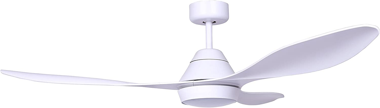 Faro Barcelona 33346 - POLARIS Ventilador de techo con luz LED, Blanco con motor DC: Amazon.es: Bricolaje y herramientas