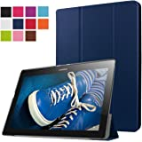 ERLI Lenovo Tab 2 X30F A10-30 Funda, Ultra delgado Smart Funda Carcasa con Stand Función y Auto-Sueño/Estela para Lenovo Tab 2 X30F A10-30 Android Tablet pulgadas (Azul)