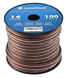 Amazon Price History for:InstallGear 14 Gauge AWG 100ft Speaker Wire True Spec and Soft Touch Cable