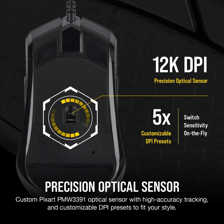 CORSAIR M55 RGB Pro Ambidextrous Gaming Mouse 12K Dpi