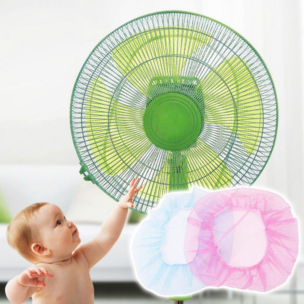 Xuniu Kid Baby Finger Protector Safety Mesh Net Shielding Cover Fan Guard Casing Cute Blue 34cm//13.39