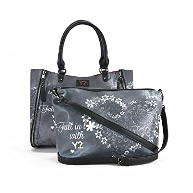 a0bfe4490635 Ynot K45 Bag big Accessories Grey Pz.  Amazon.co.uk  Shoes   Bags