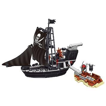 Marian Pirate Ship Blocks Toy - Building Brick Toys for Kids, 225 PCS, The  Dark World Theme