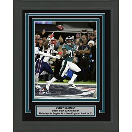 fcca13a5835 Image Unavailable. Image not available for. Color: Framed Corey Clement  Philadelphia Eagles Super Bowl 52 Champions 8x10 ...