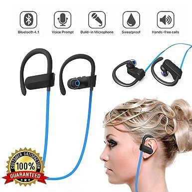 JDSenYe HBQ Inalámbrico Bluetooth Auriculares 4.1 Estéreo En el oido Deportes Auriculares Prueba de sudor Auriculares