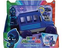 PJ Masks Autobús Ninja Nocturno (Bandai 24575) , Modelos/colores Surtidos, 1 Unidad