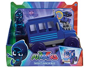 PJ Masks Vehicle & Figure - Night Ninja Bus, Blue