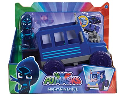 pj masks vehicle figure night ninja bus flair leisure products