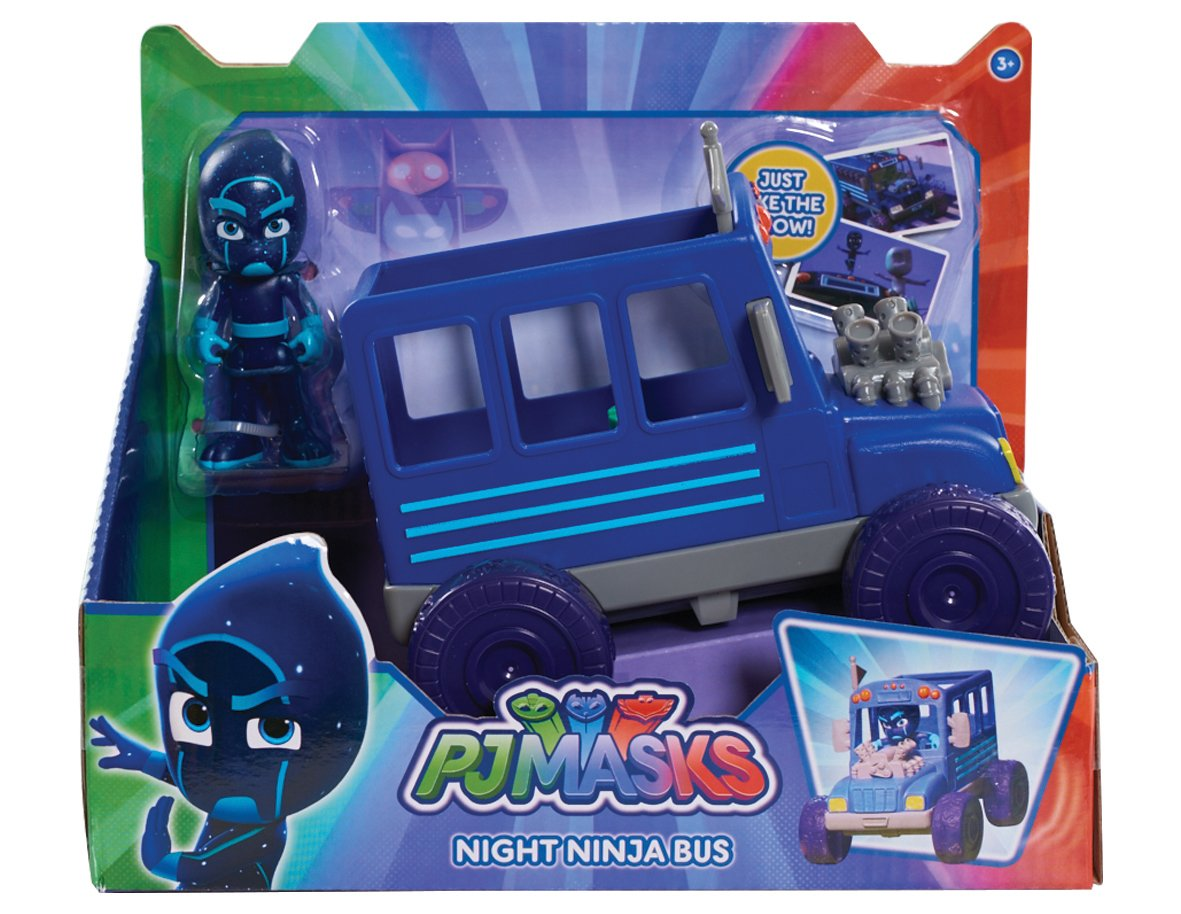 PJ Masks Vehicle and Figure - Night Ninja Bus, Blue