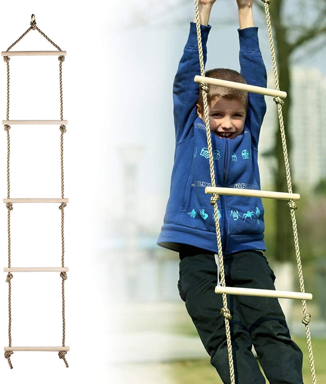 Per Cuerdas Escalera Colgantes de Madera Columpios Infantiles Exteriores para Niños Juguetes Deportivos para Niños Exteriores: Amazon.es: Bebé