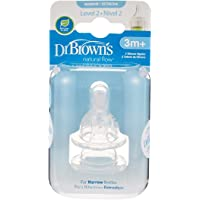 """Dr Brown's Level 2 Silicone Narrow Neck """"Options""""Nipple, (Pack of 2)"""