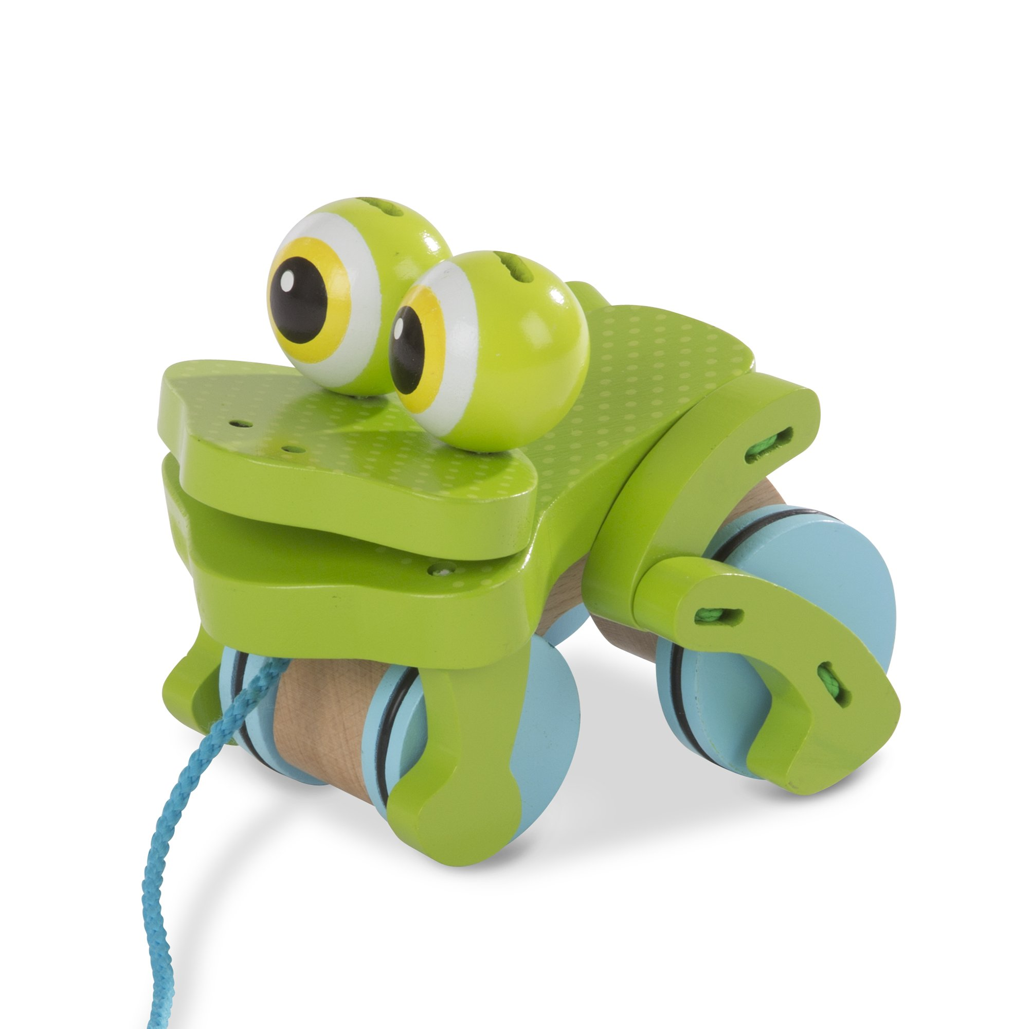 Melissa & Doug First Play Frolicking Frog Wooden Pull Toy by Melissa & Doug (Image #5)